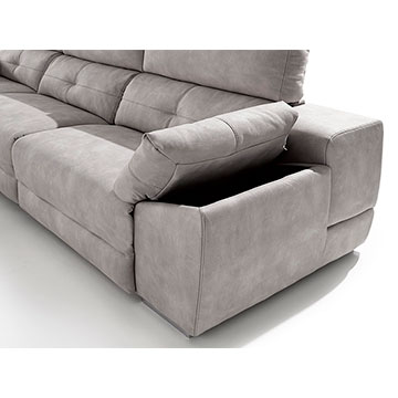 Sof relax chaise longue acomodel memory sofassinfin for Sofas 3 plazas mas cheslong