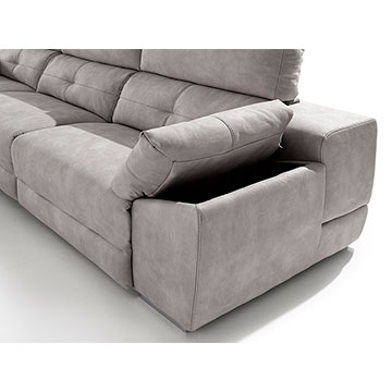 Sof chaise longue acomodel memory sofassinfin for Sofa cheslong