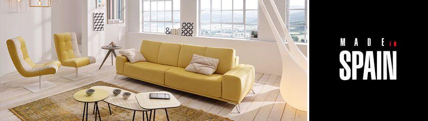 Sof s modernos en piel y tela sofassinfin for Sofas de piel modernos