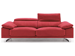 Sof s modernos en piel y tela sofassinfin for Sofas tela modernos